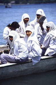Acehnese Muslim Women in Banda island. Moluccas islands. Indonesia